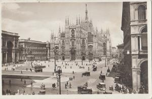 Italy Milan cathedral square early real photo postcard