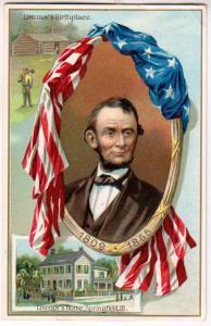 Lincoln's Home & Birthplace, Springfield Ill, Tucks #155