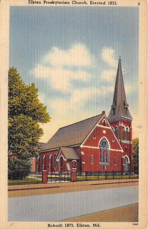 Elkton Maryland~Elkton Presbyterian Church (Built 1833-Rebuilt 1873)~1947 Pc