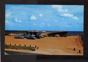NC Center Fishing Pier Carolina Beach North Carolina Postcard Old cars