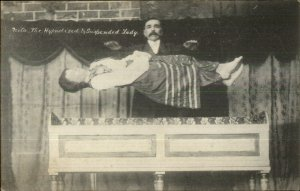 Magic Magician Hypnotist Levitating Nita the Suspended Lady c1910 Postcard