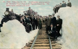 CO - Argentine Central Railway, Snowbanks on June 18, 1909