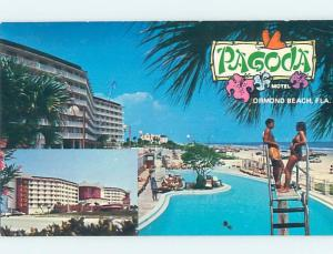 Pre-1980 PAGODA RESORT MOTEL Ormond Beach Florida FL ho4955