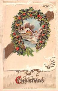 Christmas Postcard Old Vintage Antique Post Card Folder opens up on front