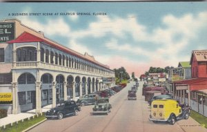 Florida Sulphur Springs Main Street Business Section 1938 sk1140a