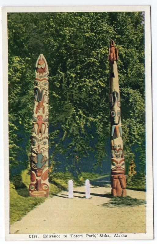 Sitka, Alaska, Entrance to Totem Park