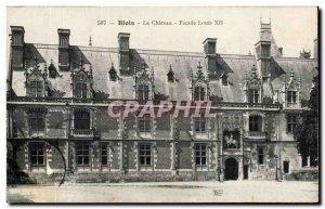 Old Postcard Blois Chateau Facade Louis XII