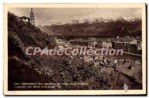 Old Postcard Grenoble Vue Generale Belledonne