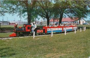 Sedalia Missouri~Miniature Train Liberty Park~Queen City Line~1960 Centennial PC