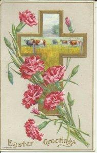 Easter Greetings Series 201 b    EMBOSSED