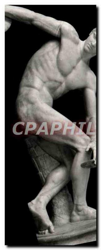 Postcard Modern Roma Discobolo Lancellotti Museo Naz