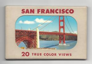 San Francisco CA 20 True Color Views Vintage EF Clements Postcards in Folder