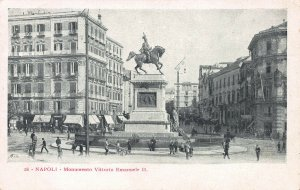 Victor Emanuel II Monument, Naples, Italy, Very Early Postcard, Unused