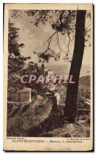 Old Postcard Menton Alpes Maritimes the Annonciata