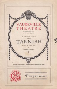 Tarnish Gilbert Emery Ethel Coleridge Of Aldwych Farces Theatre Programme