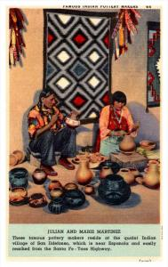 11153  Indian Pottery makers, Julian and Marie Martinez