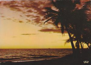 Tropical Sunset on the Beach, Guadeloupe, Antilles, 50-70's