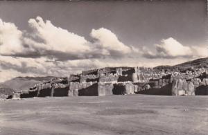 Peru Cuzco Fortress Of Saxahuaman Real Photo