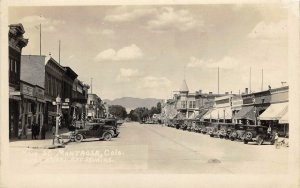 RPPC MONTROSE, CO Main Street Scene Manhattan Cafe ca 1930s Vintage Postcard