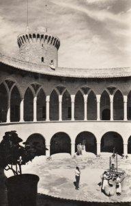 RP: MALLORCA, Islas Baleares, Spain, 1930s ; Castillo de Bellver Patio de Armas