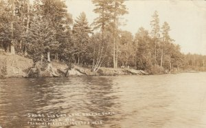 RP; THREE LAKES , Wisconsin, 1916 ; Shore Line at Lake Breeze Farm