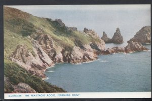 Channel Islands Postcard - Guernsey - The Pea-Stacks Rocks, Jerbourg Point   ...