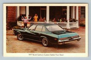 Automobile - 1977 Buick Century 4-Door Custom Sedan, Chrome Postcard