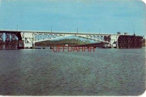ARROWHEAD BRIDGE - US Highway 2 linking DULUTH, MINNESOTA with SUPERIOR, WI 1955