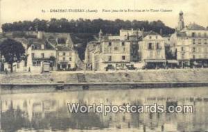 Chateau-Thierry, France, Carte, Postcard Place Jean de la Fontaine et le Vieu...