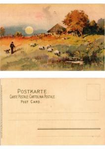 CPA Gluck auf dem Weg Meissner & Buch Litho Serie 1274 (730554)