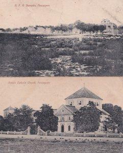 Ferozepore Barracks Catholic Church 2x Antique India Postcard s