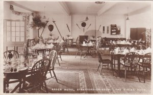 England Stratford-On-Avon Arden Hotel Dining Room Real Photo Tucks sk3857