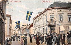 Drottninggatan Karlshamn 1911 Missing Stamp