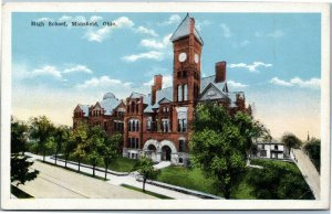 postcard High School, Mansfield, Ohio