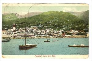 Funchal , Madeira , Portugal, view from the sea , PU-1912