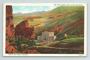 The Pueblo Park Red Rocks Denver Mt Mountain Parks Colorado CO Postcard