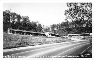 Chattanooga Tennessee~City View Motel~Roadside US 27~$6 Night~1953 RPPC
