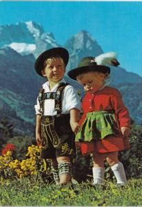 Austria Young Children In Traditional Costume