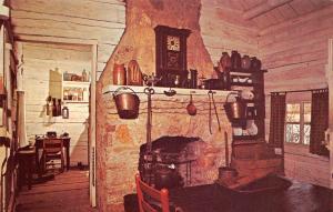 Lincolns New Salem Illinois~Dr John Allen Cabin New Salem State Park~1960 PC