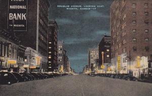 Kansas Wichita Douglas Avenue Looking East By Night