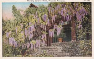 California Pasadena Wisteria Covered Home