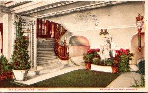Illinois Chicago The Blackstone Hotel Michigan Boulevard Entrance 1925