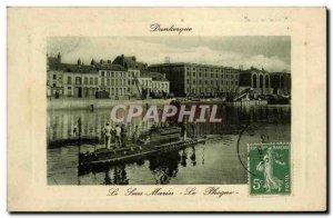 Old Postcard Boat War Dunkerque submarine Seal
