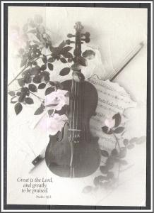 United States Great Is The Lord Violin Roses Psalm 48:1 - [MX-307]
