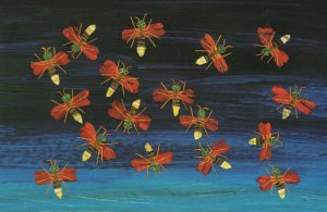 The Very Lonely Firefly Eric Carle Book Fireflies Postcard