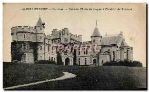 Old Postcard Hendaye Chateau d & # 39Abbadie bequeathed to the & # 39institut...