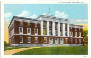Post Office, Fort Smith, Arkansas, AR, Linen