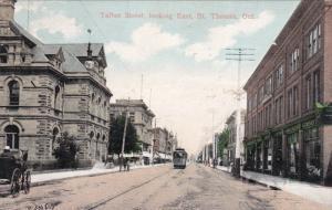 ST. THOMAS , Ontario , Canada , PU-1908 ; Talbot Street looking East