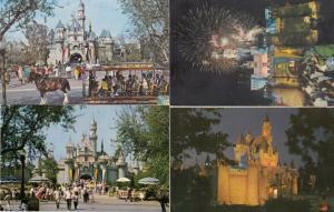 Sleeping Beauty Castle 4x Disneyland Postcard s