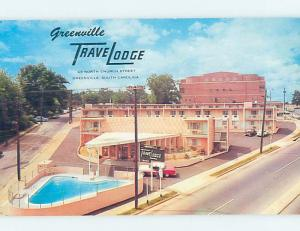 Unused Pre-1980 TRAVELODGE MOTEL Greenville South Carolina SC c0204-22